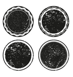 frame labels grunge isolated set vector image