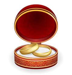Gold wedding rings vector