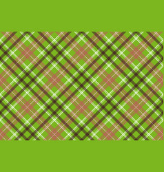 green brown plaid fabric texture seamless pattern vector image
