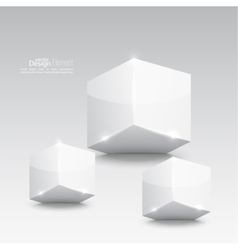 Group of white glossy cube vector image vector image