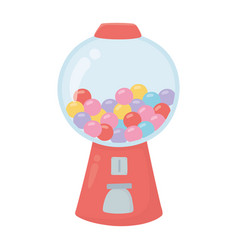 gumball dispenser sweet candy confectionery vector image