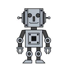 happy robot icon image vector image
