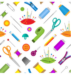 hobby accessories sewing tools equipment vector image