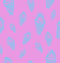 Ice cream cones seamless pattern vector