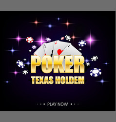 internet casino banner with glowing lamps for vector image