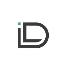 Logo letter i and d id icon design vector