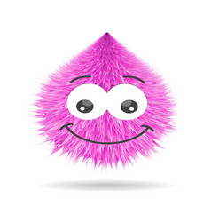 luffy pompom fur ball isolated face vector image
