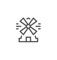 mill line icon vector image