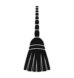 New broom black simple icon vector image