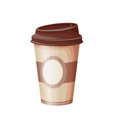 paper coffee cup flat icon vector image