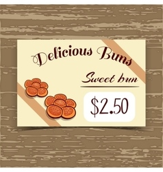 Price Tag Design Sweet Buns vector