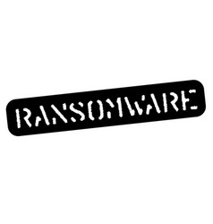 Ransomware black stamp vector