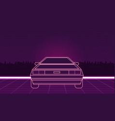Retro futuristic background vector