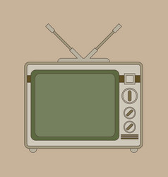 retro looking television flat vector image
