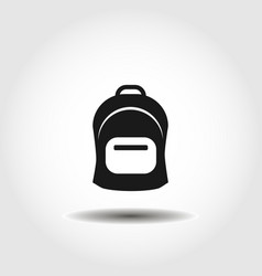 Rucksack knapsack schoolbag sack isolated icon vector