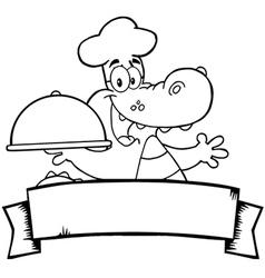 Seafood restaurant cartoon logo vector image