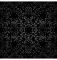 Seamless black pattern vector image