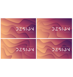 set abstract wavy backgrounds trendy vector image