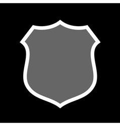 Shield heraldic icon vector