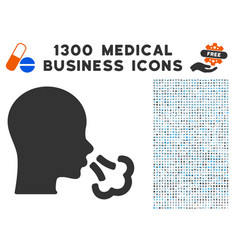 Sneeze icon with 1300 medical business icons vector
