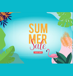 Summer sale background for banners flyer vector