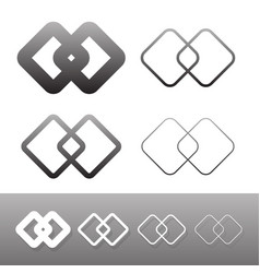 Symbolic link icon symbols chain links connection vector