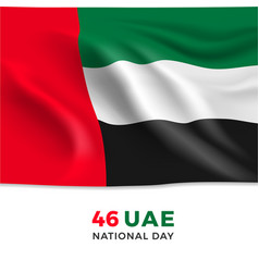 Uae national day 46 realistic national flag vector