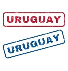 Uruguay Rubber Stamps vector