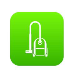 Vacuum cleaner icon digital green vector