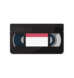 video cassette vhs videotape from 90s isolated vector image