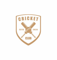 Vintage retro cricket emblem badge sport club vector