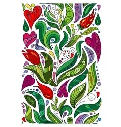 doodle flowers seamless border Zentangle vector image vector image