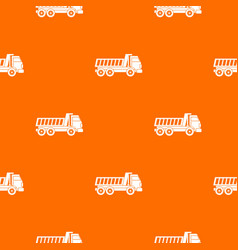 dumper truck pattern seamless vector image vector image