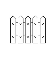 Fence icon outline style vector image