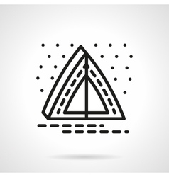 Overnight camping simple line icon vector image
