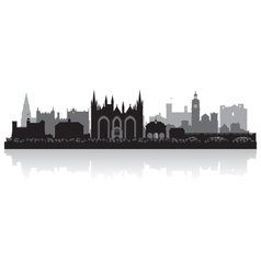 Peterborough city skyline silhouette vector image vector image