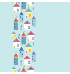 Town houses vertical seamless pattern background vector image