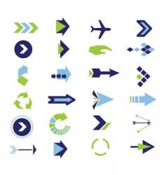 arrow collection vector image vector image