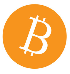 Bitcoin icon on white background bitcoin sign vector