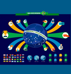 brazil soccer game infographic template vector image