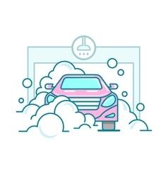 Car wash linear design vector image vector image
