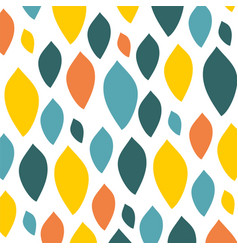 colorfull leaf pattern on a white background vector image vector image