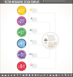infographic design template colorful design 3 vector image vector image