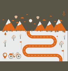 infographics landscape background vector image vector image