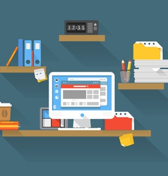 Working place vector image vector image
