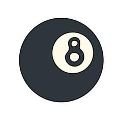 8 ball pool or billiard icon image vector image