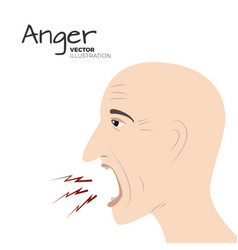 anger emotion vector image