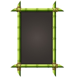 Blackboard in square bamboo frame - menu signboard vector image vector image
