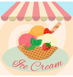 Cafe ice cream vector image vector image