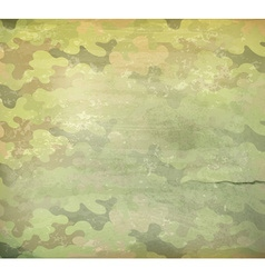 Camouflage old style background vector image